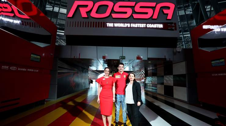 Charles Leclerc at Ferrari World Abu Dhabi