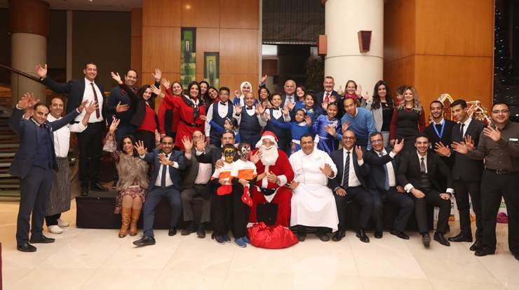 Holiday Inn Cairo Citystars team with 57357 Children's Hospital choir
