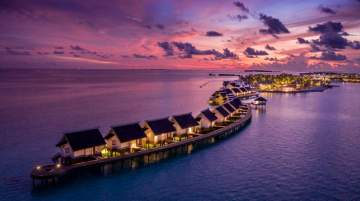 SAii Lagoon Maldives at sunset