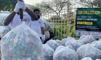 Two Seasons Hotel Contributes to Can Collection Campaign
