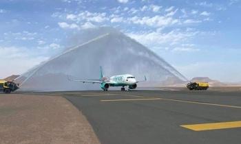 AlUla International Airport receives the inaugural flight of flynas from Riyadh